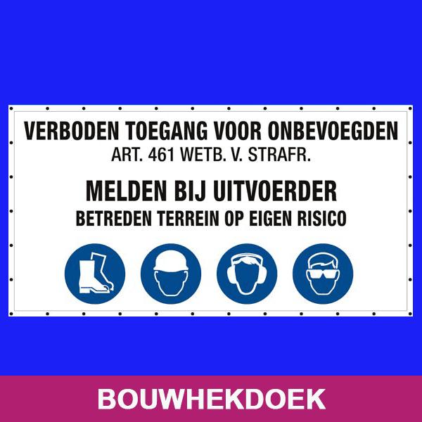 Bouwhekdoek Atlas reclame