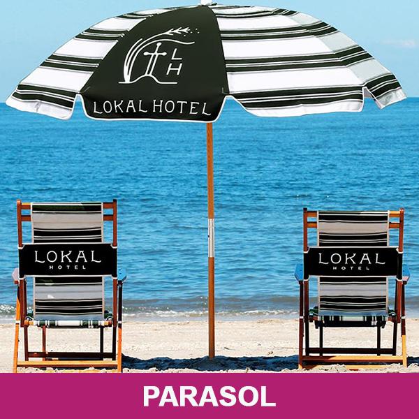 Parasol met logo
