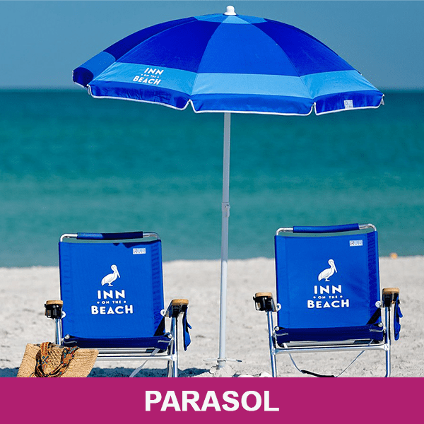 bedrukte parasol