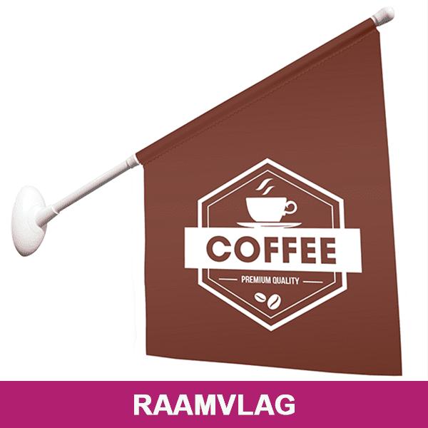 Raamvlag met Logo