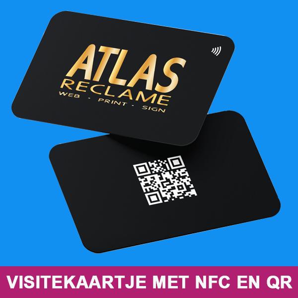 Visitekaartje met QR en NFC